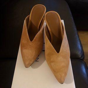 Gently worn Halston Mules (with kitten heel)